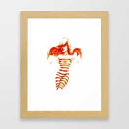 Fiery Water Faery Framed Art Print