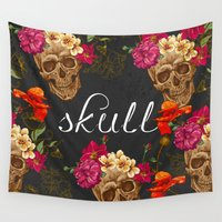 playstation Wall Tapestries featuring Skull by eARTh