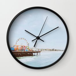 santa monica ii / california Wall Clock