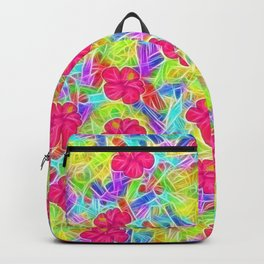Hawaiian Pink Flowers Backpack