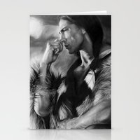 native american Stationery Cards featuring Native American  by Thubakabra