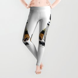 Little Mascot Hockey Player Penguin Leggings
