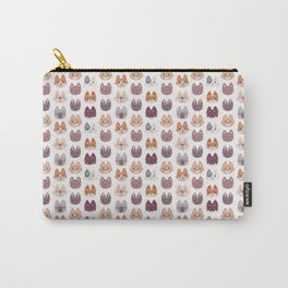 Cute Kitty Cat Faces Pattern Carry-All Pouch