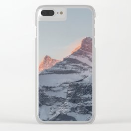 Rundle Mountain Clear iPhone Case