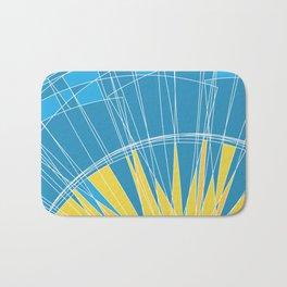 Abstract pattern, digital sunrise illustration Bath Mat