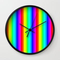 Rainbow Line #society6 Wall Clock