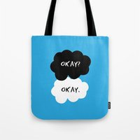 okay Tote Bags featuring Okay by D-fens