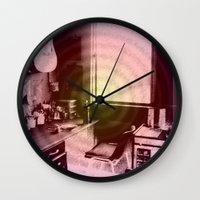 lsd Wall Clocks featuring ATÊLIE LSD by Dianah B