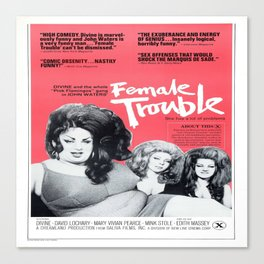 Vintage Female Trouble Movie Poster Canvas Print