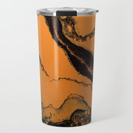 Dirty Acrylic Pour Painting 07, Fluid Art Reproduction Abstract Artwork Travel Mug