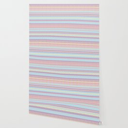 PPASTELL - Pastel, Pink, Lilac, Stripes, Nursery, Baby, Blue Wallpaper