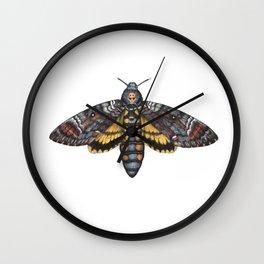 African Death's Head Hawkmoth (Acherontia atropos) Wall Clock
