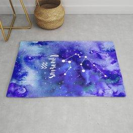 Aquarius Constellation Rug