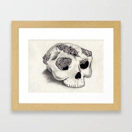I Think, I Think too much Framed Art Print