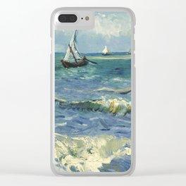 Seascape near Les Saintes Maries de la Mer by Vincent van Gogh Clear iPhone Case