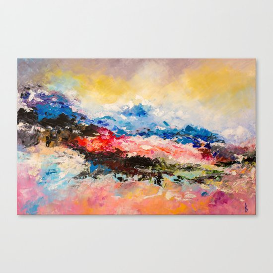 Dreaming volcano Canvas Print