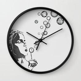 Anarchy Girl Art Print Wall Clock