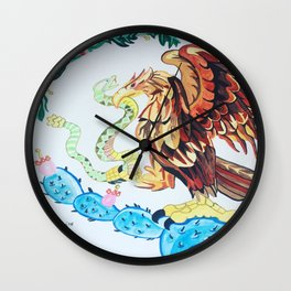 The Wings of Mexico Wall Clock
