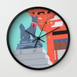 Inari Ōkami Kyoto Landscape Wall Clock