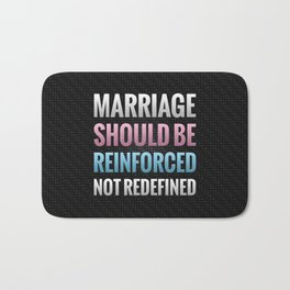 Marriage Should Be Reinforced Bath Mat