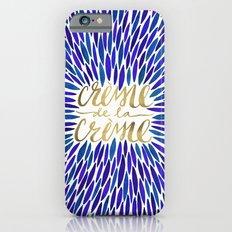 Crème de la Crème – Navy & Gold Slim Case iPhone 6s