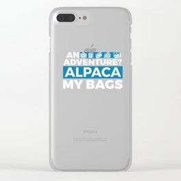 An Adventure Alpaca My Bags Clear iPhone Case