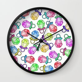Retro 80's 90's Neon Colorful Ring Candy Pop Wall Clock
