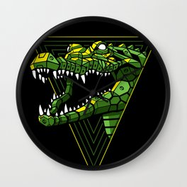 Cyber Crocodile Punk Wall Clock