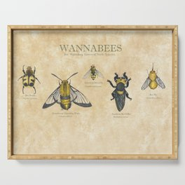 wannabees: Bee Mimicking Inects Serving Tray