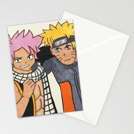 Naruto and Natsu Stationery Cards