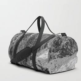 Oregon Adventures Black and White - Nature Photography Duffle Bag