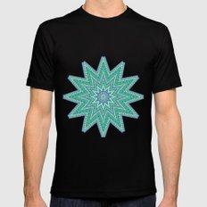 Kaleidoscopic-Oceania colorway Black Mens Fitted Tee MEDIUM
