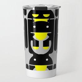 linux Tux penguin android  Travel Mug