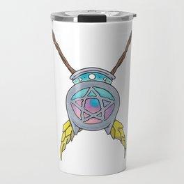 Crossed Broomsticks Travel Mug
