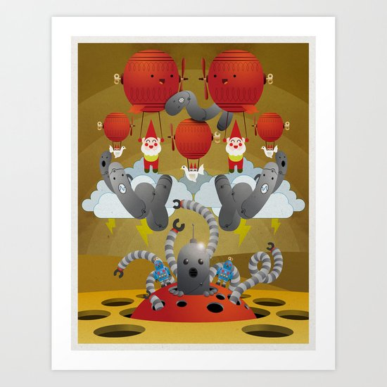 Meet Raveland 03 Art Print