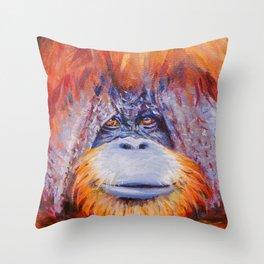 Chantek the Great Throw Pillow