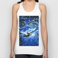 grateful dead Tank Tops featuring Jerry Garcia Blues Acrylic Painting Grateful Dead by Acorn
