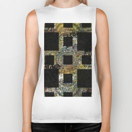 Abstract Background with Black Squares Biker Tank