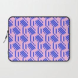 Imperfect Geometric Stripes Pattern - Pink Blue Laptop Sleeve