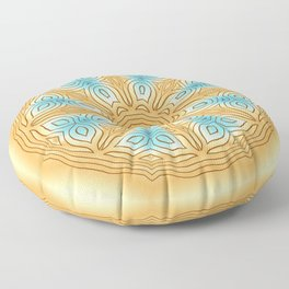 Sea Beach Summer Kaleidoscope Abstract Pattern Floor Pillow