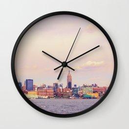 Perfect Day - New York City Skyline Wall Clock