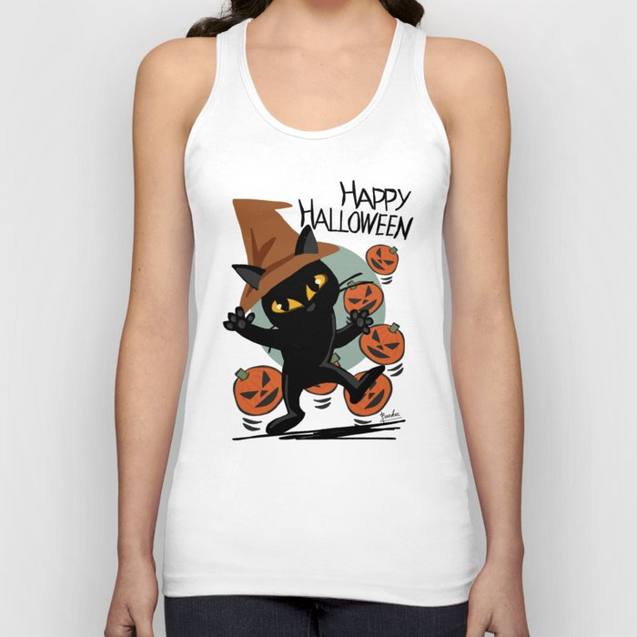 Cat Halloween Unisex Tank Top