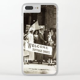 Suffrage Envoy Photograph (1915) Clear iPhone Case
