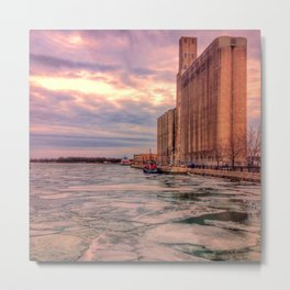 Frozen Lake Ontario in Toronto Metal Print