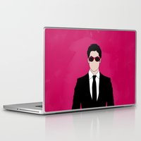 darren criss Laptop & iPad Skins featuring Pink Darren Criss by byebyesally