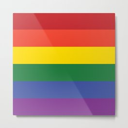 Gay Flag Metal Print