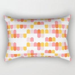 Bert Midmod Ice Cream Shop Pattern Rectangular Pillow
