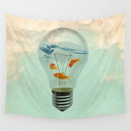 ideas and goldfish 02 Wall Tapestry