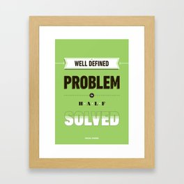 Well defined problem Framed Art Print
