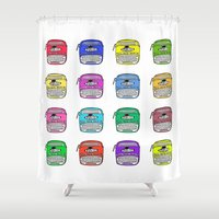 write Shower Curtains featuring Write on by andy_panda_